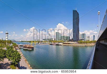 Danube City With The Brand New Dc-tower Of Vienna