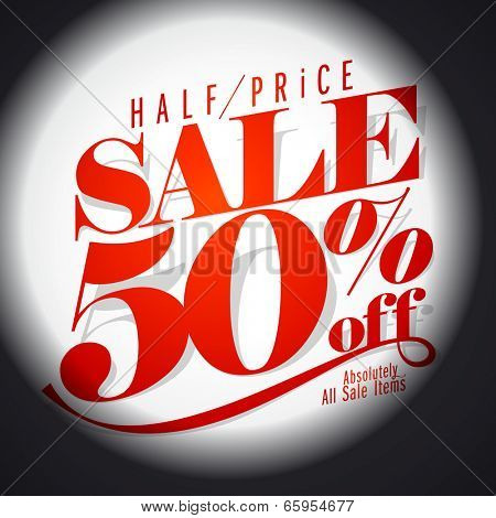 50 % sale banner. Eps10