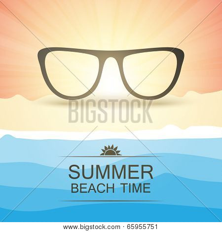 Abstract Summer Party Card or Cover Template - Vector Design Concept