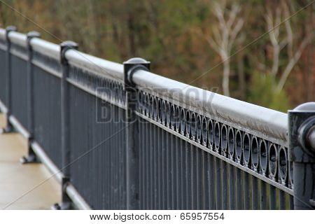 Long black decorative fence