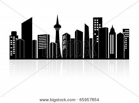 Urban landscape or city skyline