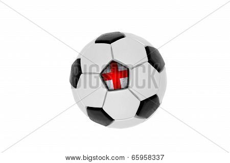 Soccer Ball With The Flag Of England