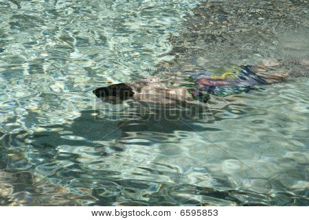 Underwater Child Swimming