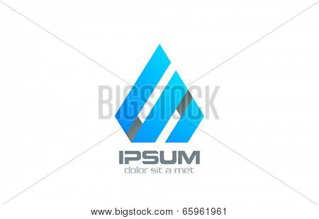 Corporate sign abstract vector logo design. Business concept. Triangle icon. Real Estate creativ