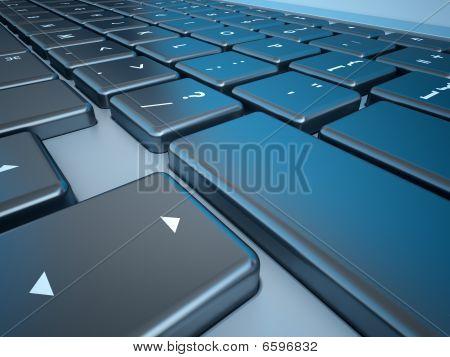 Notebook's Keyboard Closeup Series