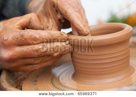 Craftsman Works In Clay Dishes