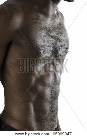Torso Of Musculous African Man
