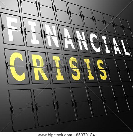 Airport Display Financial Crisis