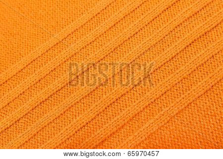 Woven Knitted Orange Background