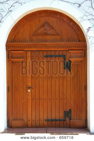 Big Wooden Door Of A Church