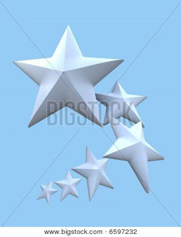 Six White Stars