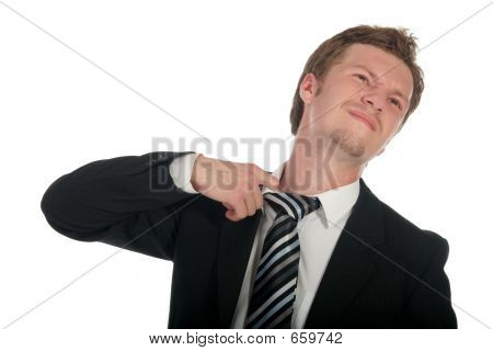 Businessman Loosening His Tie