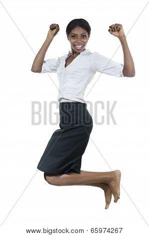 Beautiful African Woman Jumping