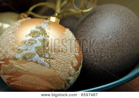 Christmas Ornament Laying In Bowl