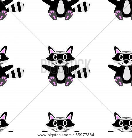 Racoon Seamless Pattern
