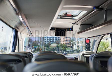 Empty Bus Interior