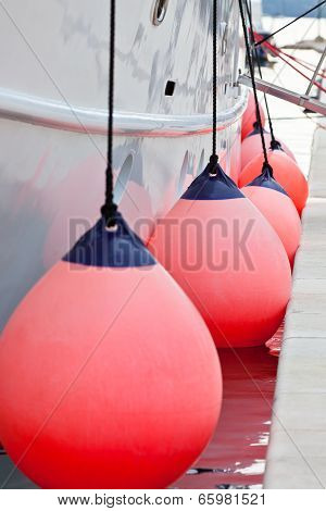 Sailboat Side Fenders Closeup