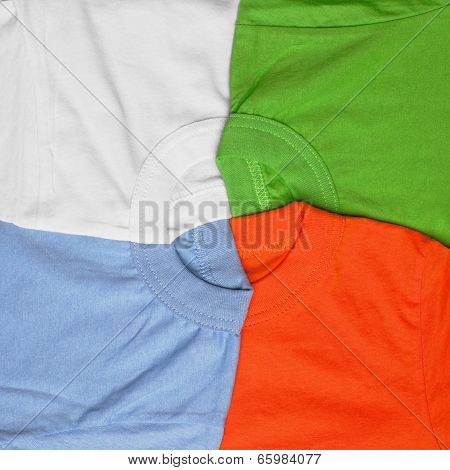 colorful t-shirt creative background