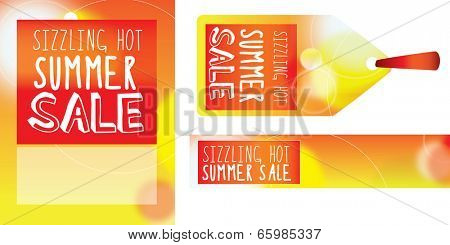 abstract sale messages on white background