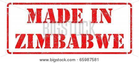 Made in Zimbabwe - inscription on Red Rubber Stamp.