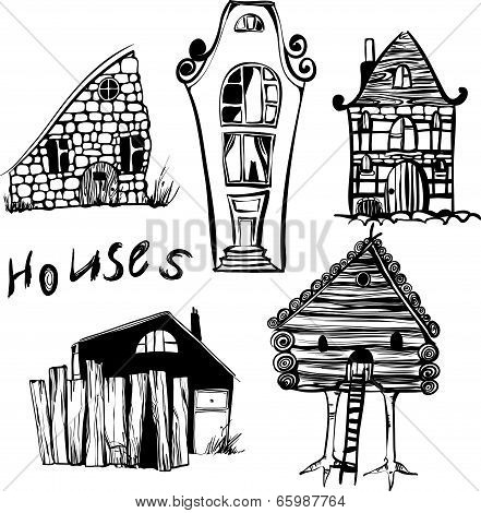 Five houses from different countries