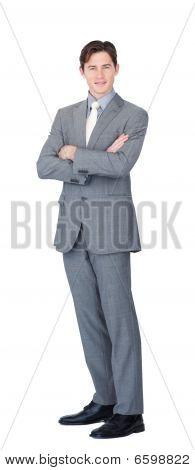 Durchsetzungsfähige Caucasian Businessman Standing