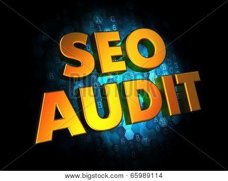 Seo Audit - Gold 3D Words