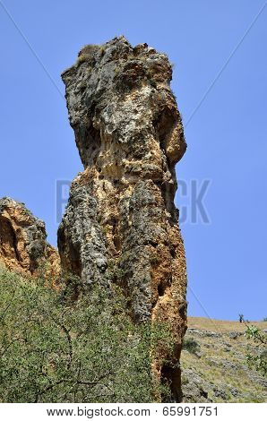 Rock Tower In Galilee, Israel