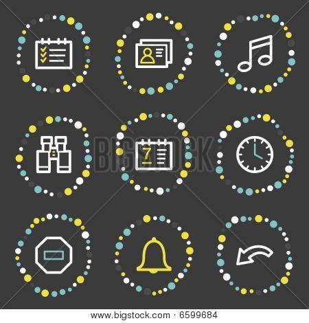 Organizer web icons, colour dots series
