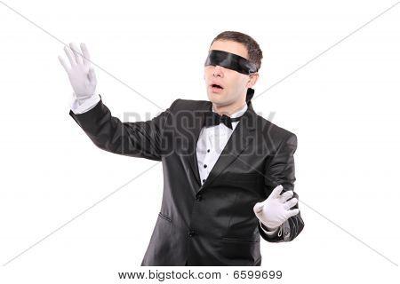 Blindfold Elegant Man