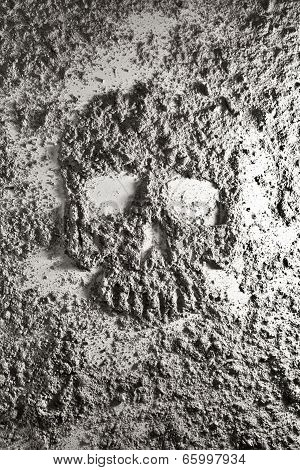 Human Skull Made Of Ash