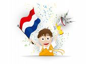 picture of holland flag  - Vector  - JPG