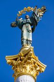 stock photo of kiev  - Independence monument in Kiev Ukraine - JPG