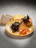 pic of sauteed  - Sandwich with smoked salmon and sauteed radish - JPG