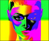 pic of  art  - This is a digital art image of a close up woman - JPG