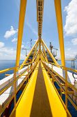 picture of offshore  - Platform construction in offshore - JPG