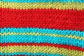 image of knitting  - Knitted fabric background - JPG