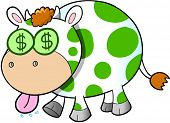 stock photo of cash cow  - Cash Cow Vector Illustration Art - JPG