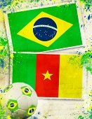 picture of algeria  - Brazil vs Cameroon soccer ball concept - JPG
