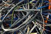 stock photo of discard  - Discarded cables - JPG