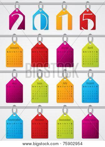 Hanging Labels 2015 Calendar Design
