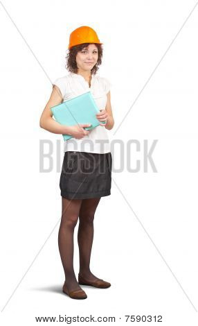 Businesswoman In Hard Hat