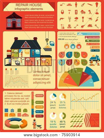 House Repair graphic, Set Elements