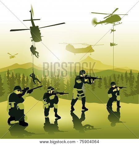 Landing Troops