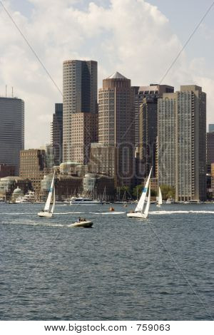 Busy Boston Harbor