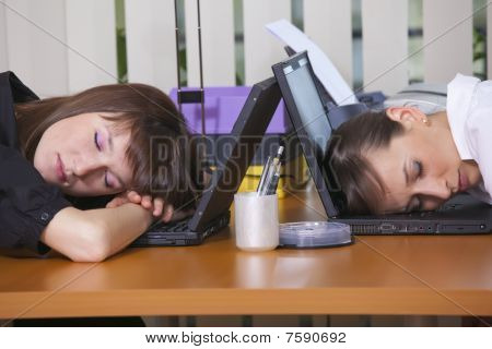 Tired Office Workers