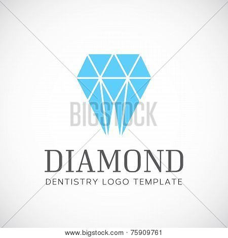 Diamond Dentistry Tooth Abstract Vector Template