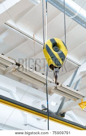 Warehouse Interior With Crane Hook