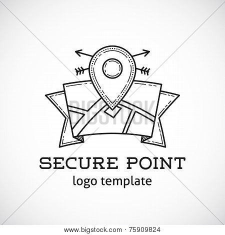Safe Shield Point Abstract Vector Template