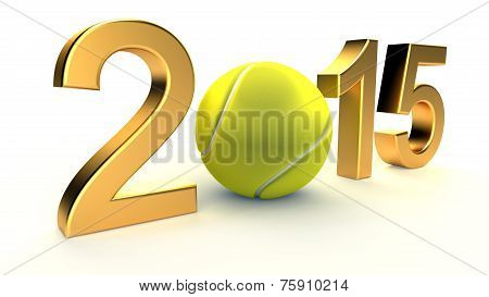 Tennis ball and 2015 year